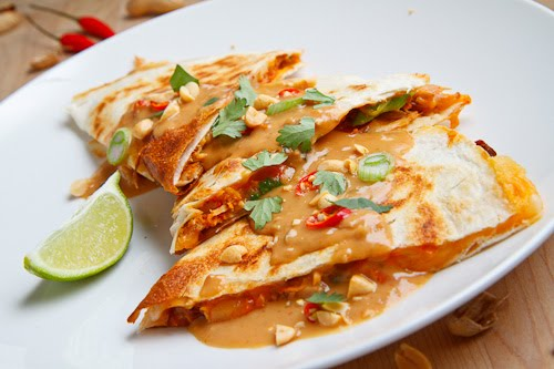 Spicy Peanut Chicken Quesadillas 500 2621